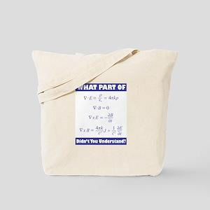Maxwell's Equations Tote Bag