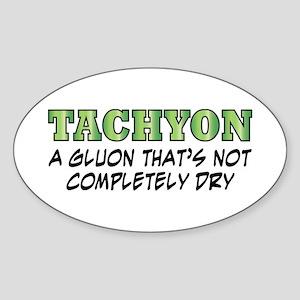 Tachyon Oval Sticker