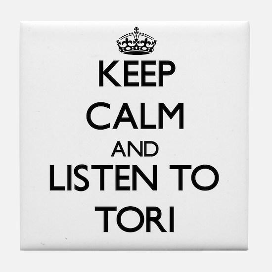 Keep Calm and listen to Tori Tile Coaster