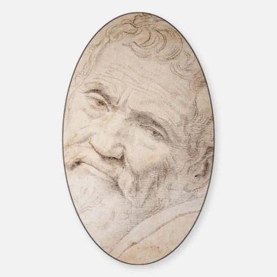 Michelangelo Portrait Sticker (Oval)