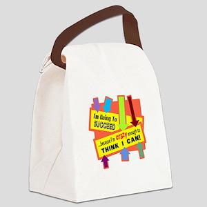 Crazy Enough/t-shirt Canvas Lunch Bag