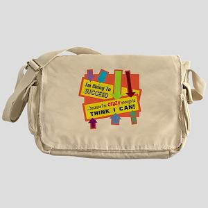 Crazy Enough/t-shirt Messenger Bag