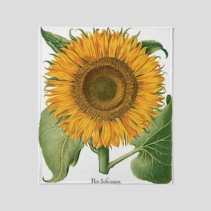 Vintage Sunflower Basilius Besler Throw Blanket
