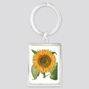 Vintage Sunflower Basilius Besle Portrait Keychain