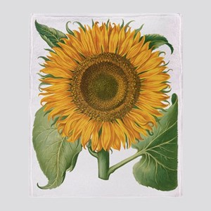 Vintage Sunflower Basilius Besler Throw Blanket