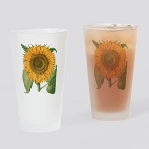 Vintage Sunflower Basilius Besler Drinking Glass