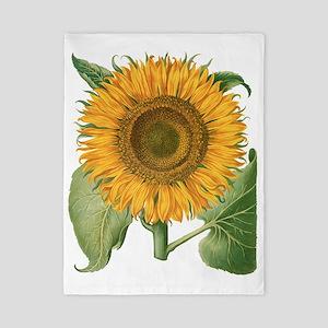 Vintage Sunflower Basilius Besler Twin Duvet