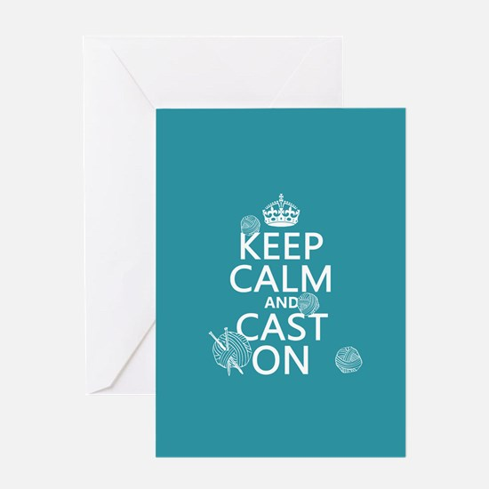 Keep Calm and Cast On Greeting Cards