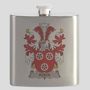 Koch Family Crest Flask