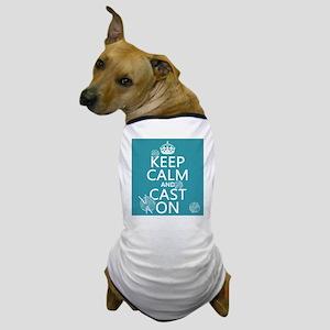 Keep Calm and Cast On Dog T-Shirt