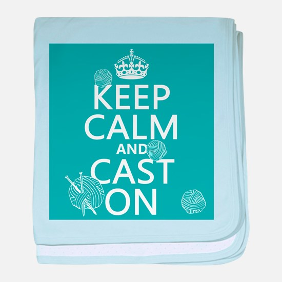 Keep Calm and Cast On baby blanket