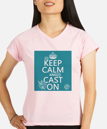 Keep Calm and Cast On Performance Dry T-Shirt