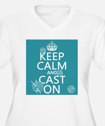 Keep Calm and Cast On Plus Size T-Shirt