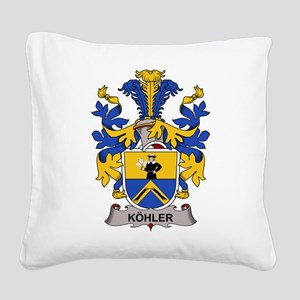 Kohler Family Crest Square Canvas Pillow