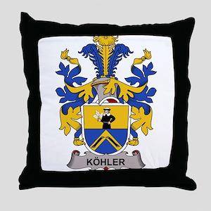 Kohler Family Crest Throw Pillow