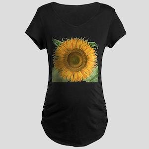 Vintage Sunflower Basilius  Maternity Dark T-Shirt