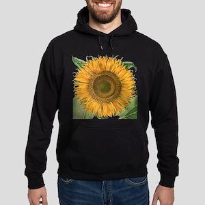 Vintage Sunflower Basilius Besler Hoodie (dark)