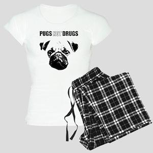 Pug Not Drugs Women's Light Pajamas