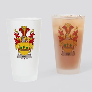 Lind Family Crest Drinking Glass