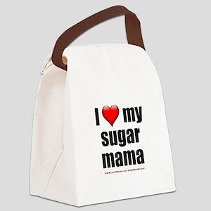 """Love My Sugar Mama"" Canvas Lunch Bag"