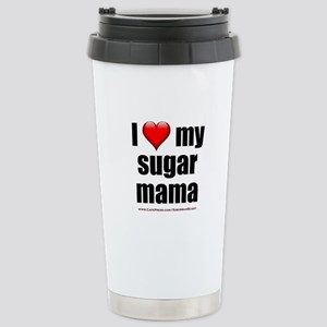"""Love My Sugar Mama"" Stainless Steel Travel Mug"