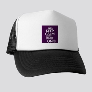 Keep Calm and Knit On Hat