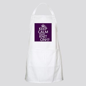 Keep Calm and Knit On Apron
