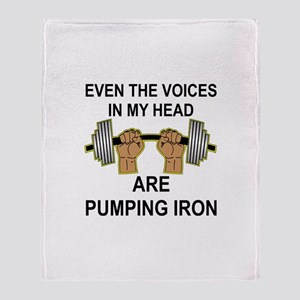 Voices Are Pumping Iron Throw Blanket
