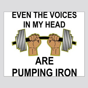 Voices Are Pumping Iron Small Poster