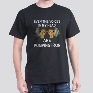 Voices Are Pumping Iron Dark T-Shirt