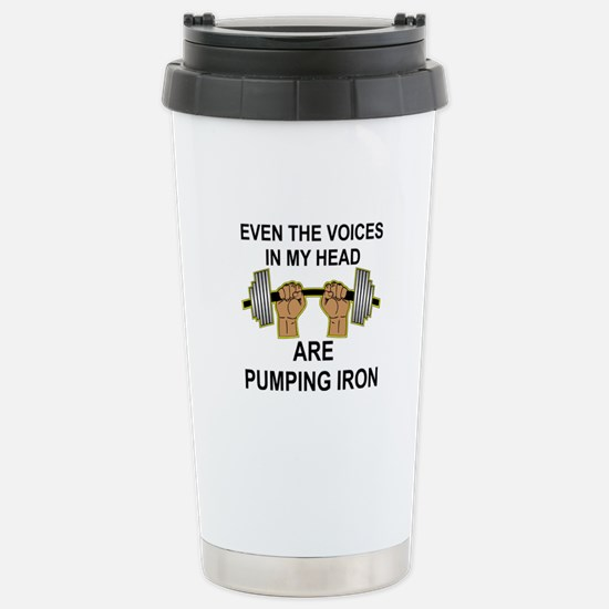 Voices Are Pumping Iron Stainless Steel Travel Mug