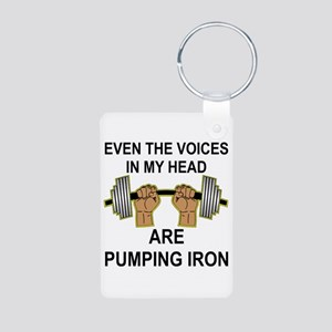 Voices Are Pumping Iron Aluminum Photo Keychain