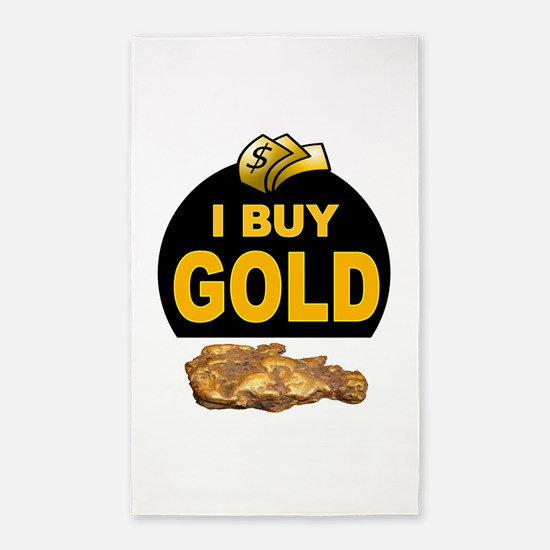 GOLD BUYER 3'x5' Area Rug