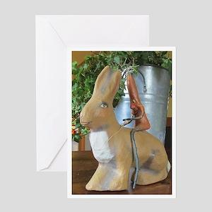 Carrot riding Rabbit Greeting Card