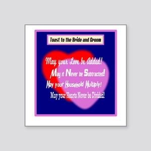 May Your Love Be Added-Wedding Toast Sticker