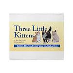 Three Little Kittens Logo Throw Blanket