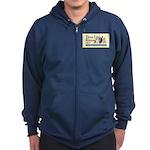 Unisex - Navy Blue Or Black Zip Hoodie (dark)