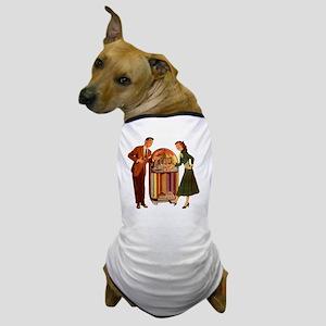 Mid-century Jukebox Illustration Dog T-Shirt