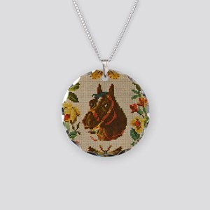 Antique Horse, Butterfly and Necklace Circle Charm