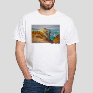 Rocks at Point Lobos White T-Shirt