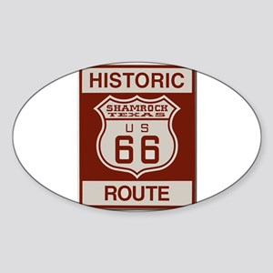 Shamrock Texas Route 66 Sticker