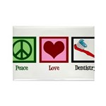Peace Love Dentistry Rectangle Magnet (10 pack)