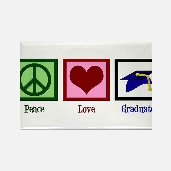 Peace Love Graduate Rectangle Magnet (100 pack)