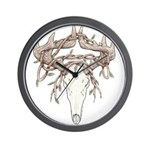 Deer Skull Wall Clock