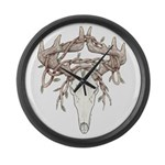 Deer Skull Large Wall Clock
