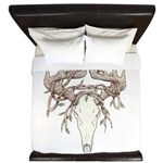 Deer Skull King Duvet