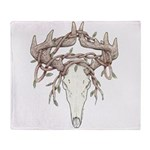 Deer Skull Throw Blanket