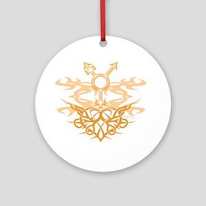 Transgender Tribal Heart Ornament (Round)