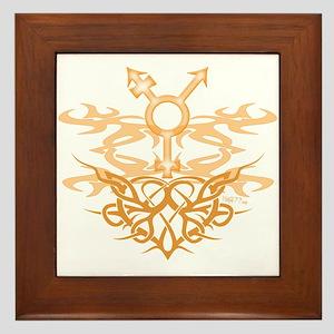 Transgender Tribal Heart Framed Tile
