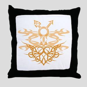 Transgender Tribal Heart Throw Pillow